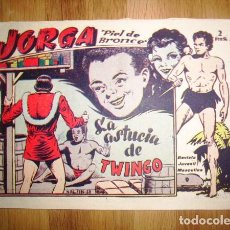 Tebeos: JORGA 'PIEL DE BRONCE'. Nº 9 : LA ASTUCIA DE TWINGO. - BARCELONA : RICART, [D.L. 1963]. Lote 122536047