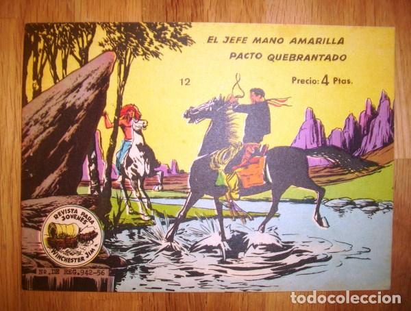 WINCHESTER JIM. Nº 12 : EL JEFE MANO AMARILLA ; PACTO QUEBRANTADO. - BARCELONA : RICART, [CA. 1965] (Tebeos y Comics - Ricart - Otros)