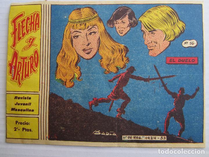 FLECHA Y ARTURO , NUMERO 16 , EL DUELO , RICART 1965 (Tebeos y Comics - Ricart - Flecha y Arturo)