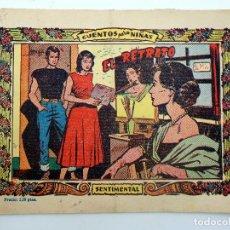 Tebeos: COLECCIÓN SENTIMENTAL RICART. CUENTOS PARA NIÑAS 343. EL RETRATO RICART, 1959. Lote 124878574