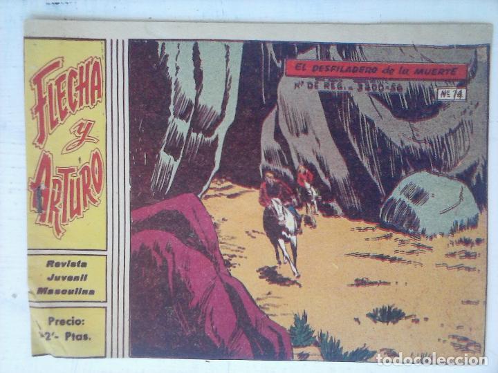 FLECHA Y ARTURO ORIGINAL Nº 14 EDI. RICART 1965 (Tebeos y Comics - Ricart - Flecha y Arturo)