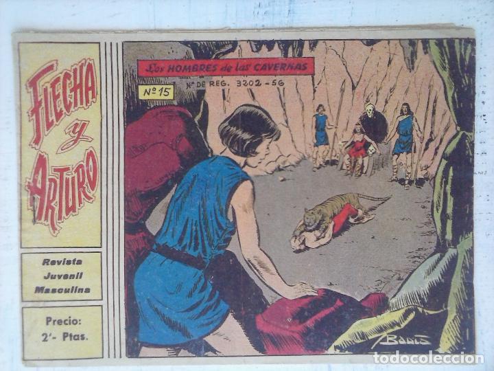 FLECHA Y ARTURO ORIGINAL Nº 15 EDI. RICART 1965 (Tebeos y Comics - Ricart - Flecha y Arturo)