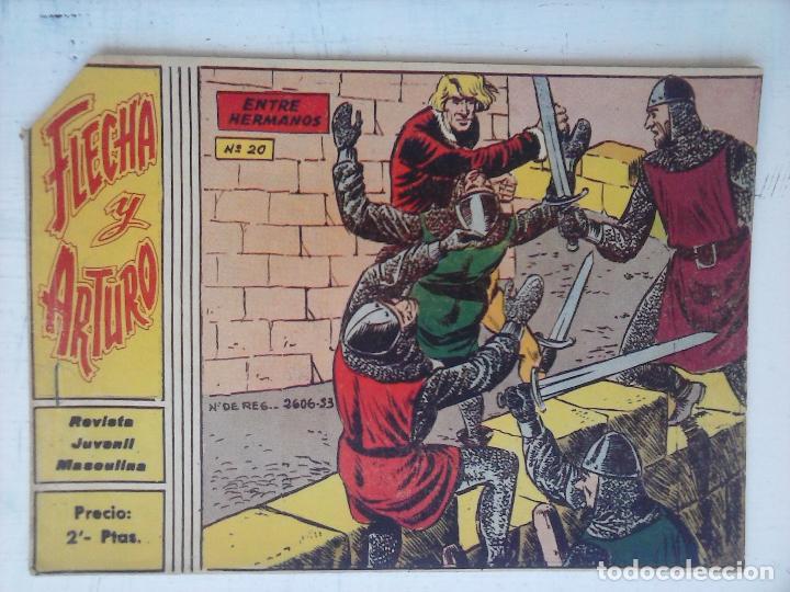 FLECHA Y ARTURO ORIGINAL Nº 20 EDI. RICART 1965 (Tebeos y Comics - Ricart - Flecha y Arturo)