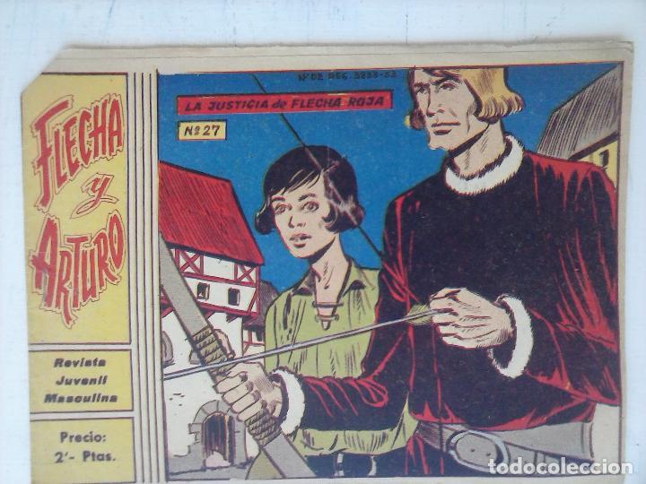 FLECHA Y ARTURO ORIGINAL Nº 27 EDI. RICART 1965 (Tebeos y Comics - Ricart - Flecha y Arturo)