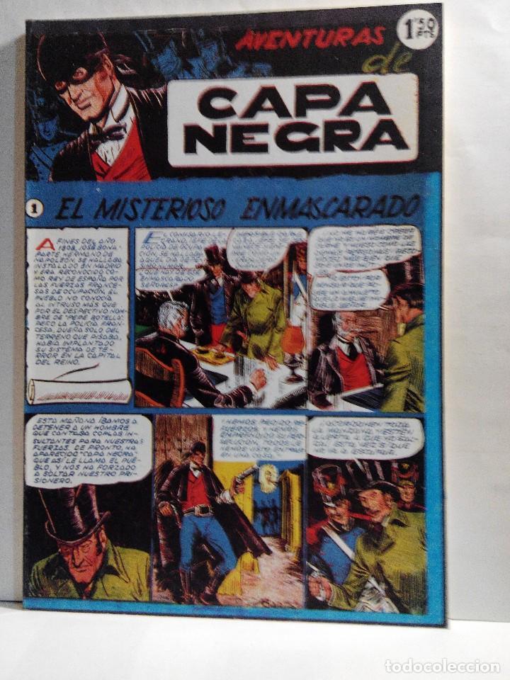 LOTE 2 TOMOS DE LAS AVENTURAS DE CAPA NEGRA (Tebeos y Comics - Ricart - Otros)