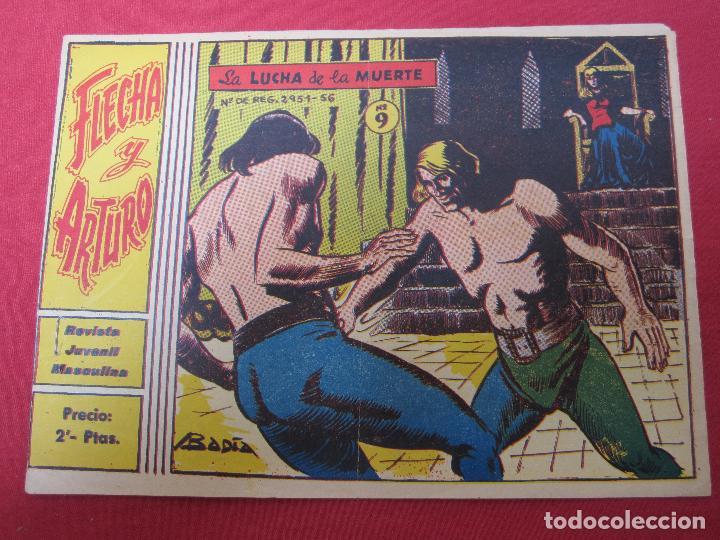 FLECHA Y ARTURO , NUMERO 9 , LA LUCHA DE LA MUERTE , RICART (Tebeos y Comics - Ricart - Flecha y Arturo)
