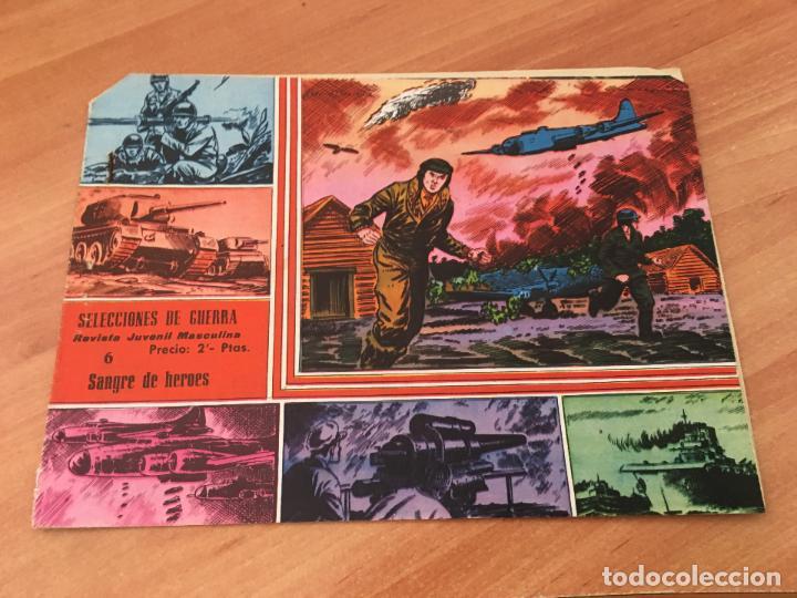 SELECCIONES DE GUERRA Nº 6 SANGRE DE HEROES. PLANTILLA RACING SANTANDER (ED. RICART) (COIM7) (Tebeos y Comics - Ricart - Otros)