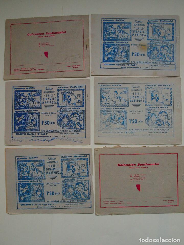 Tebeos: LOTE COLECCIÓN SENTIMENTAL - CUENTOS PARA NIÑAS Nº 189, 192, 193, 195, 202, 210 - RICART 1959 - Foto 2 - 131746034
