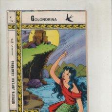 Tebeos: REVISTA JUVENIL FEMENINA-COLECCIÓN GOLONDRINA-B/N-AÑO 1972-RICART-FORMATO GRAPA-Nº 179-ARROJADA AL... Lote 132675562