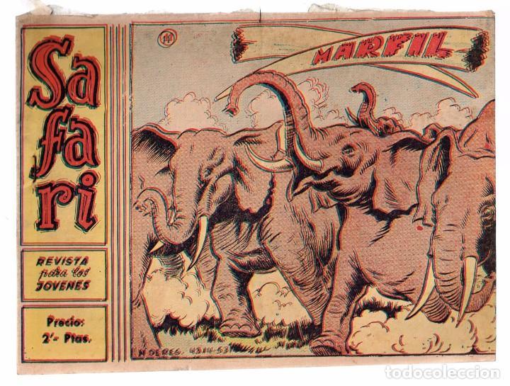 SAFARI. Nº-11 MARFIL . RICART 1965 (Tebeos y Comics - Ricart - Safari)