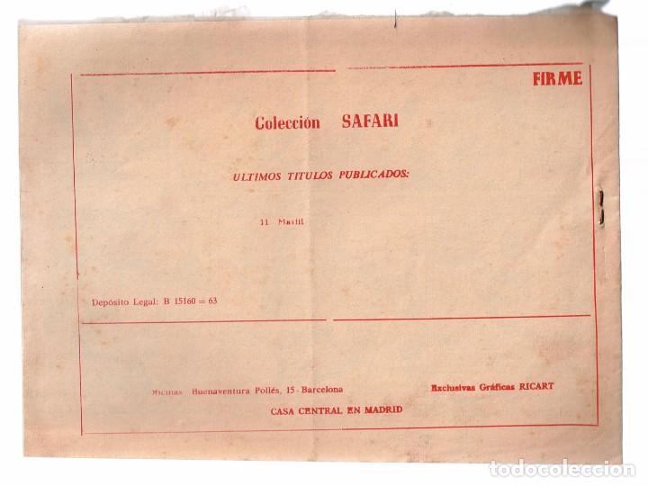 Tebeos: Safari. Nº-11 Marfil . Ricart 1965 - Foto 2 - 132937958