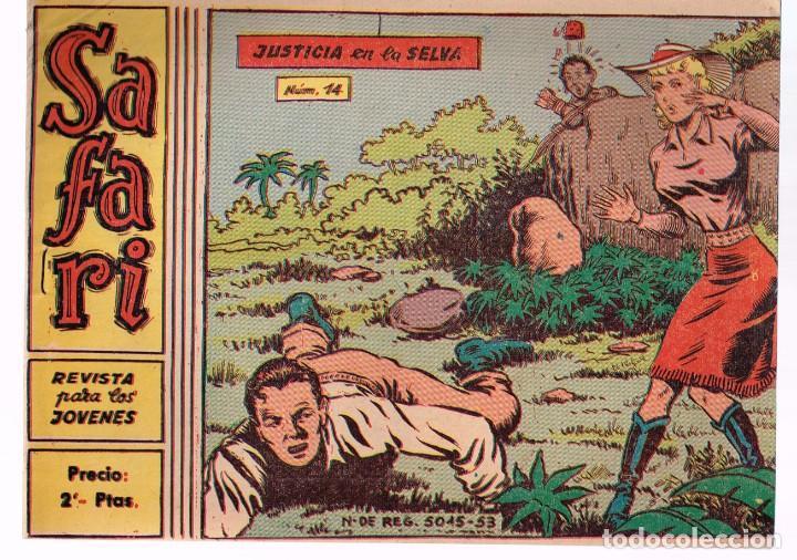 SAFARI. Nº-14 JUSTICIA EN LA SELVA . RICART 1965 (Tebeos y Comics - Ricart - Safari)