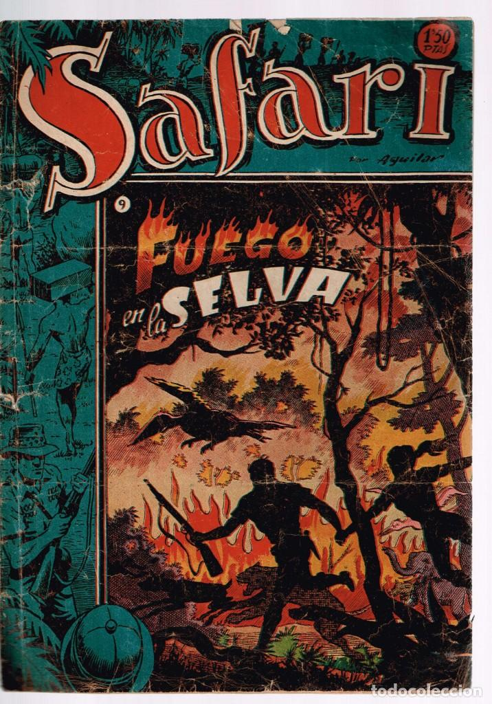 SAFARI. Nº-9 FUEGO EN LA SELVA . RICART 1953 (Tebeos y Comics - Ricart - Safari)