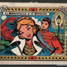 Tebeos: MODISTILLA Y EL OFICIAL, LA . COL. GOLONDRINA Nº-148 . EXCLUSIVAS GRAFICAS RICART 1957. Lote 133538758