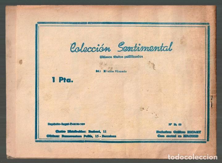 Tebeos: Niño Mimado, El . Col.Sentimental Nº-241 . Exclusivas Graficas Ricart 1959 - Foto 2 - 133539378