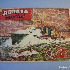 Tebeos: EPISODIOS DE COREA (1955, RICART) 35 · 1955 · ABRAZO MORTAL. Lote 136426694