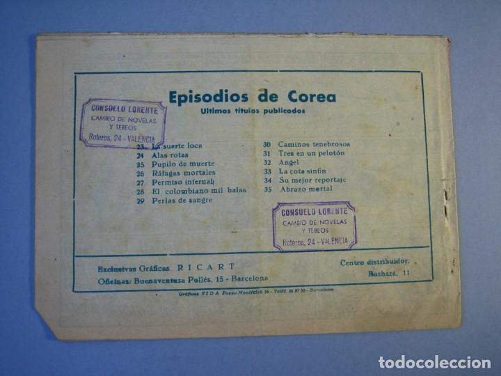 Tebeos: EPISODIOS DE COREA (1955, RICART) 35 · 1955 · ABRAZO MORTAL - Foto 2 - 136426694