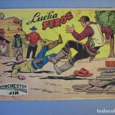 Tebeos: WINCHESTER JIM (1954, RICART) 7 · 1-III-1955 · LUCHA FEROZ. Lote 136426778