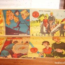 Tebeos: FLECHA Y ARTURO ORIGINALES NºS 15 16 19 27. RICART 1965.. Lote 136485302