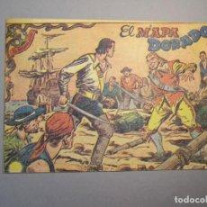 Tebeos: CORSARIO AUDAZ, EL (1955, RICART) 4 · 15-XI-1955 · EL MAPA DORADO. Lote 140582234
