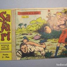 Tebeos: SAFARI (1965, RICART) 14 · 5-V-1965 · JUSTICIA EN LA SELVA. Lote 140582818