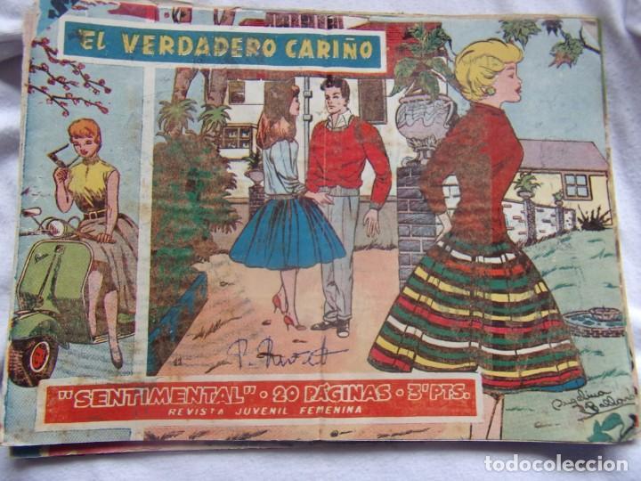 REVISTA JUVENIL FEMENINA SENTIMENTAL - 20 PÁGINAS - EL VERDADERO CARIÑO (Tebeos y Comics - Ricart - Sentimental)