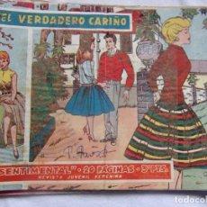 Tebeos: REVISTA JUVENIL FEMENINA SENTIMENTAL - 20 PÁGINAS - EL VERDADERO CARIÑO. Lote 141848430