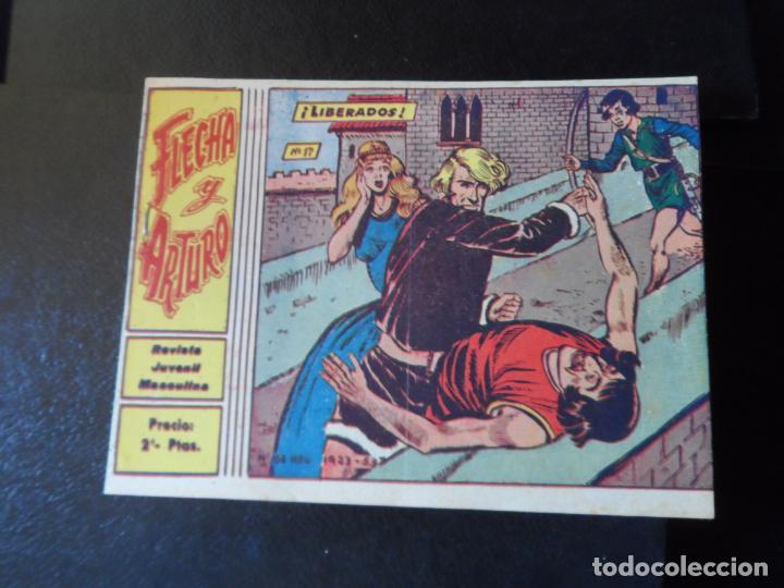 FLECHA Y ARTURO Nº 17 EDITORIAL RICART ORIGINAL (Tebeos y Comics - Ricart - Flecha y Arturo)