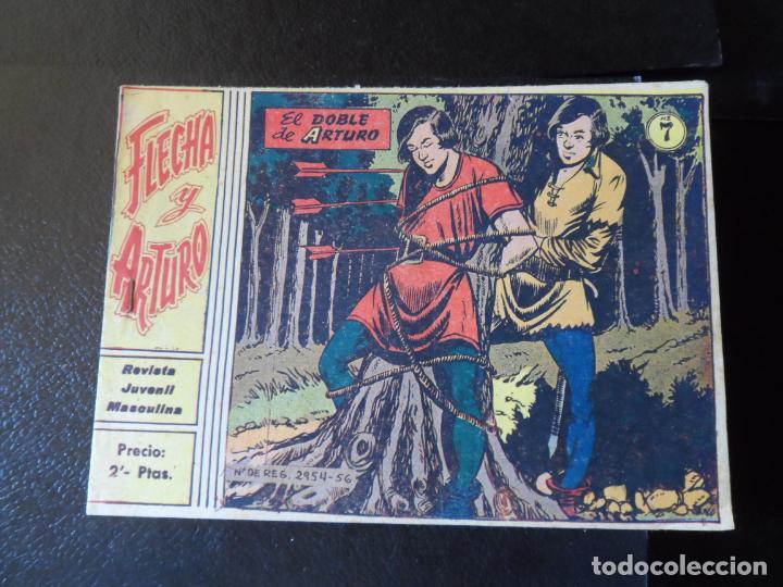 FLECHA Y ARTURO Nº 7 EDITORIAL RICART ORIGINAL (Tebeos y Comics - Ricart - Flecha y Arturo)