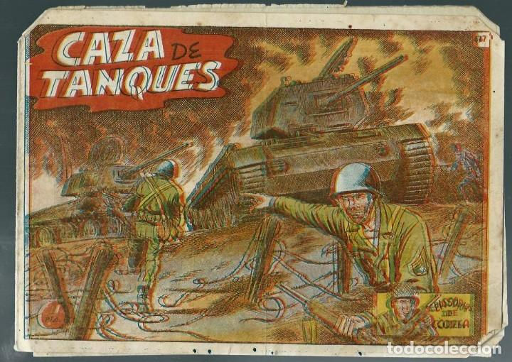EPISODIOS DE COREA Nº 47 - CAZA DE TANQUES - RICART EDITOR 1951 - ORIGINAL (Tebeos y Comics - Ricart - Otros)