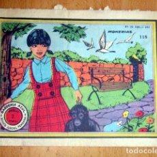 Tebeos: GARDENIA AZUL,REVISTA JUVENIL FEMENINA- AÑO 1959 Nº 118 - MONERIAS . Lote 148163262