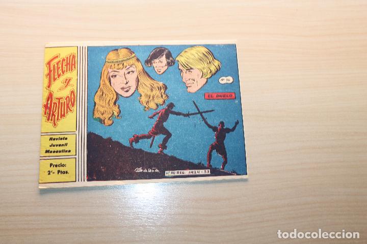 FLECHA Y ARTURO Nº 16, GRÁFICAS RICART (Tebeos y Comics - Ricart - Flecha y Arturo)