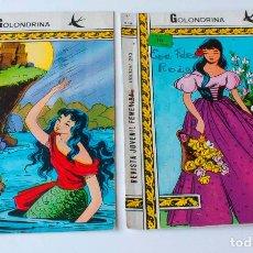 Tebeos: 2 REVISTA JUVENIL FEMENINA DE GOLONDRINA NUMEROS 179 Y 219. Lote 153656186