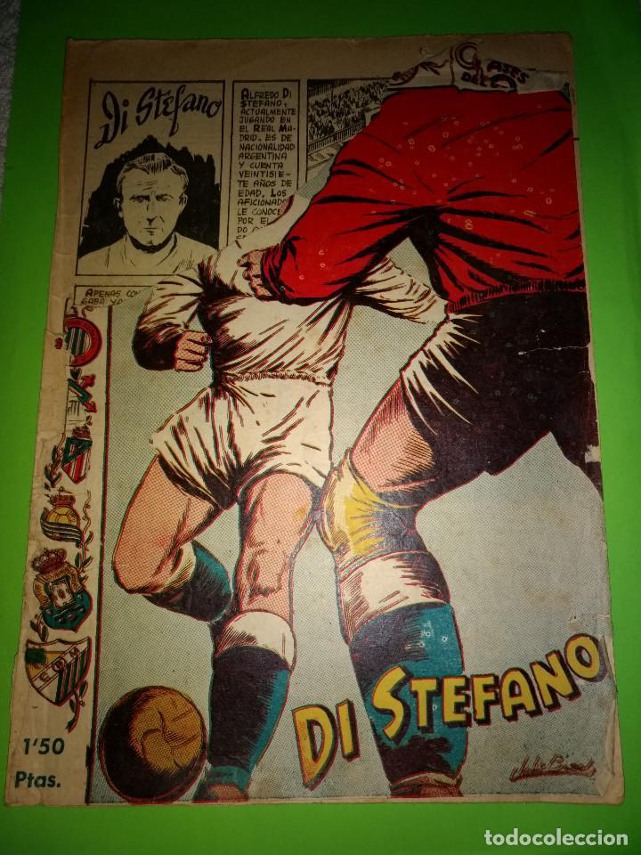 ASES DEL DEPORTE JUGADO DI STEFANO ORIGINAL AÑOS 50-60 . EDITORIAL RICART. (Tebeos y Comics - Ricart - Otros)