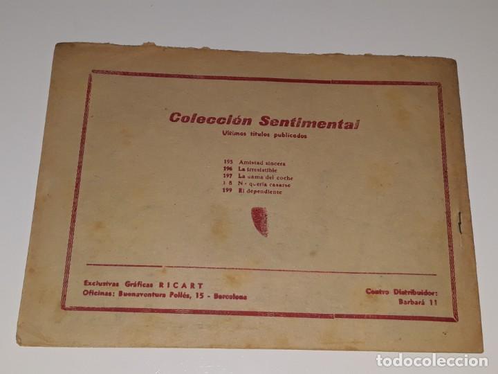 Tebeos: COMIC COLECCION SENTIMENTAL - CUENTOS PARA NIÑAS Nº199 - EL DEPENDIENTE - ED. RICART AÑOS 50 - Foto 2 - 158008162