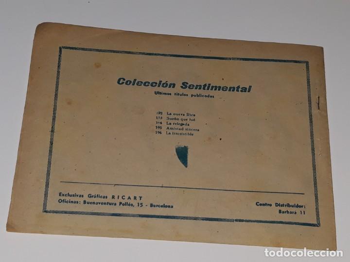 Tebeos: COMIC COLECCION SENTIMENTAL - CUENTOS PARA NIÑAS Nº 196 - LA IRRESISTIBLE - ED. RICART AÑOS 50 - Foto 2 - 158008598