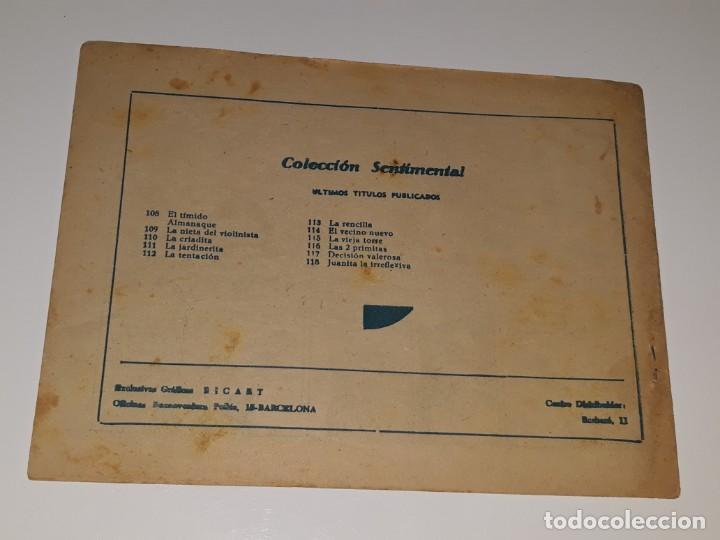 Tebeos: COLECCION SENTIMENTAL CUENTOS PARA NIÑAS Nº 118 - JUANITA LA IRREFLEXIVA - ED. RICART AÑOS 50 - Foto 2 - 158008922