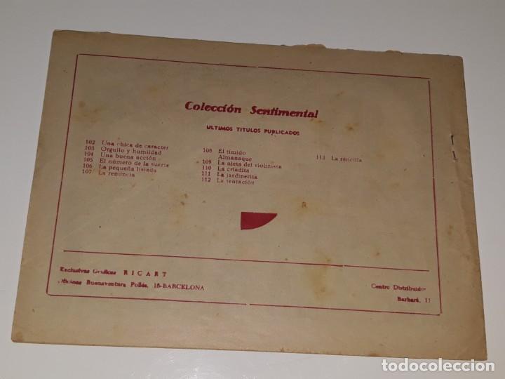 Tebeos: ANTIGUO COMIC COLECCION SENTIMENTAL CUENTOS PARA NIÑAS Nº 113 - LA RENCILLA - ED. RICART AÑOS 50 - Foto 2 - 158009026