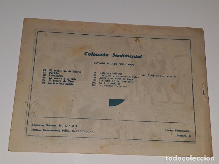 Tebeos: COLECCION SENTIMENTAL CUENTOS PARA NIÑAS Nº 102 - UNA CHICA DE CARACTER - ED. RICART AÑOS 50 - Foto 2 - 158009150