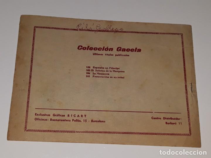 Tebeos: ANTIGUO COMIC COLECCION GACELA Nº 105 - PRESENTACION EN SOCIEDAD - ED. RICART AÑOS 50 - Foto 3 - 158017446