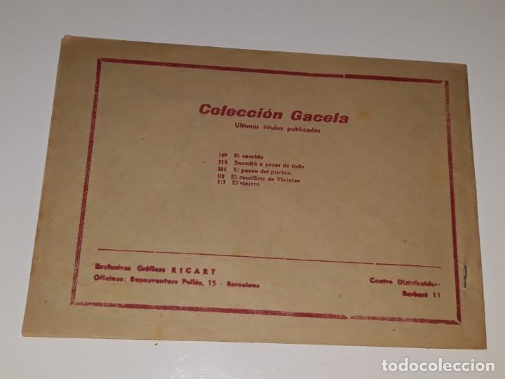 Tebeos: ANTIGUO COMIC COLECCION GACELA Nº 113 - EL VIAJERO - ED. RICART AÑOS 50 - Foto 2 - 158018534