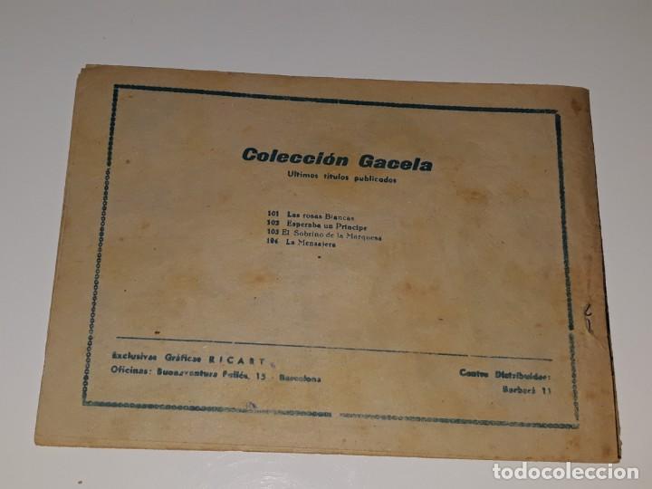 Tebeos: ANTIGUO COMIC COLECCION GACELA Nº 104 - LA MENSAJERA - ED. RICART AÑOS 50 - Foto 3 - 158018806