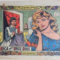 Tebeos: COLECCIÓN SENTIMENTAL - RICA POR UNOS DIAS. Lote 158233322