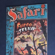 BDs: SAFARI Nº 9 / FUEGO EN LA SELVA / RICART / ORIGINAL. Lote 159560110