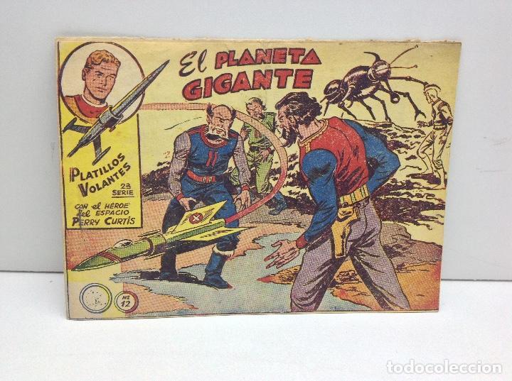 PLATILLOS VOLANTES 2ª SERIE PERRY CURTIS Nº 12 - EL PLANETA GIGANTE - ORIGINAL (Tebeos y Comics - Ricart - Otros)