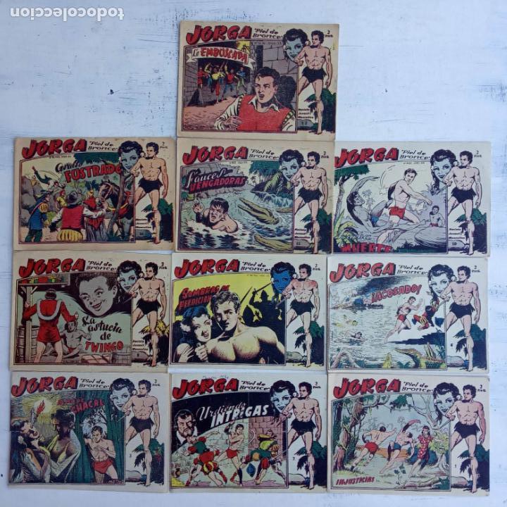 JORGA PIEL DE BRONCE ORIGINAL 1963 - 1,2,3,4,6,9,10,11,16,17 MUY BIEN CONSERVADOS (Tebeos y Comics - Ricart - Jorga)