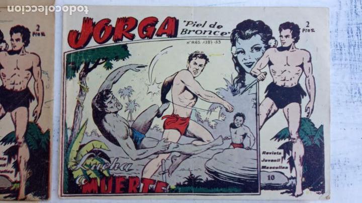 Tebeos: JORGA PIEL DE BRONCE ORIGINAL 1963 - 1,2,3,4,6,9,10,11,16,17 MUY BIEN CONSERVADOS - Foto 6 - 163764454