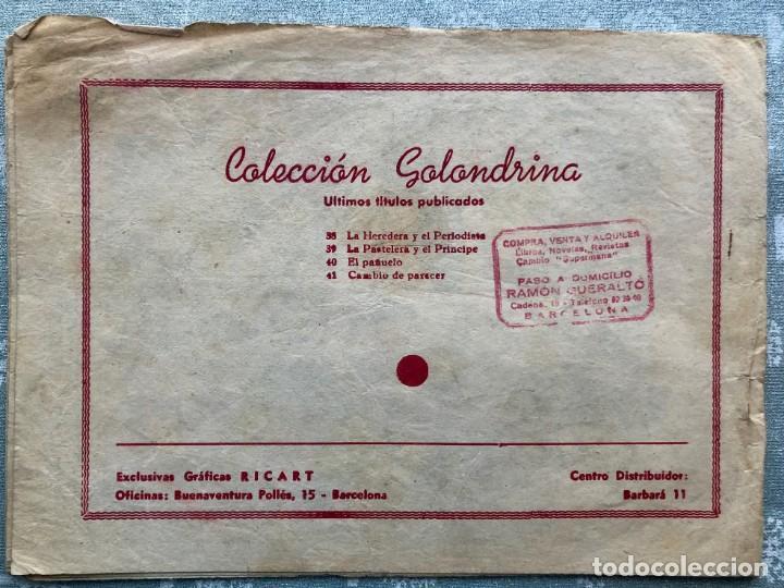 Tebeos: COLECCION GOLONDRINA Nº 41 CAMBIO DE PARECER. CUENTOS PARA NIÑAS. EDITORIAL RICART AÑOS 50 - Foto 4 - 165122954