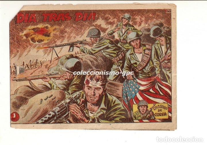 EPISODIOS DE COREA Nº 50 TEBEO ORIGINAL 1951 DIA TRAS DIA GRÁFICAS RICART BUEN ESTADO OFERTA MIRA ! (Tebeos y Comics - Ricart - Otros)