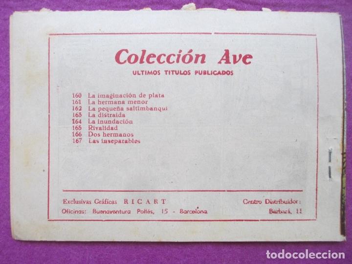Tebeos: TEBEO LAS INSEPARABLES, COLECCION AVE, ED. RICART, Nº 167 - Foto 2 - 168071016